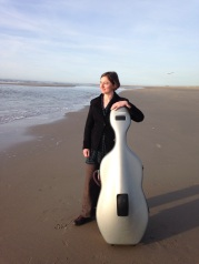 Travels with my cello... Monster beach, near Den Haag.